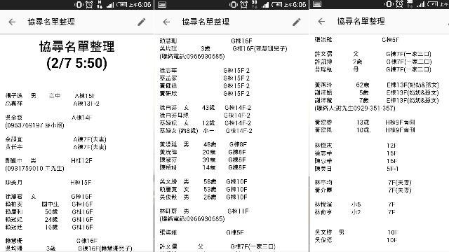 網友大團結!PTT鄉民「協尋名單」接力更新