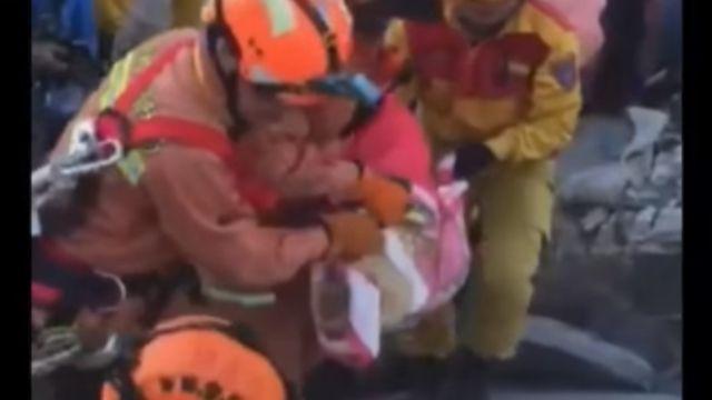勇敢! 8歲女童林素琴困61時 順利救出