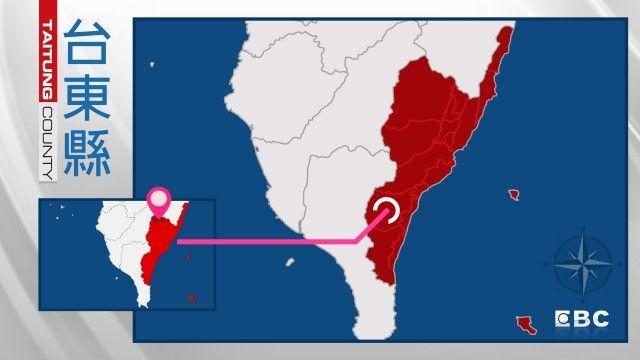 12:07台東規模4.5震 深度35.7公里 成功2級