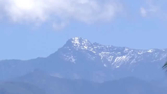 美呆了! 天氣好視野清晰 中台灣能遠眺玉山