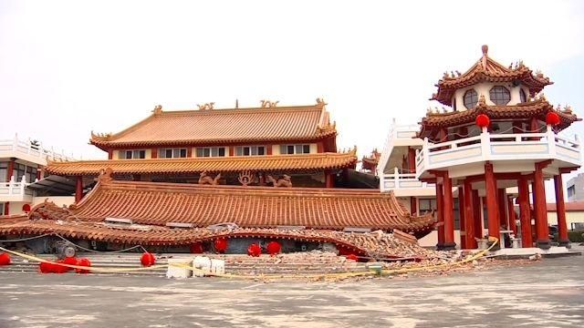 南台強震寺廟也遭殃 十三間廟受損