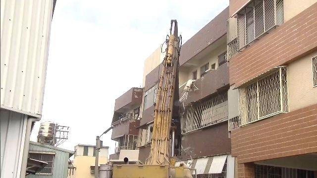 地震毀!大智市場4層變3層 被認定危樓拆