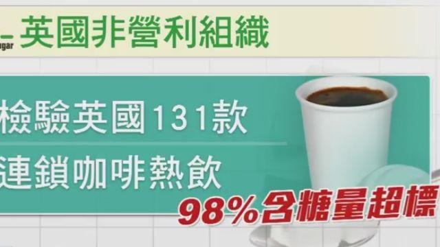 英調查:98%咖啡連鎖熱飲 含糖量爆表