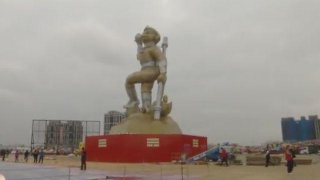台灣燈會主燈「齊天創鴻運」高26公尺吸睛