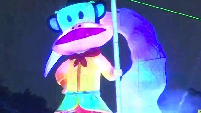 台中燈會熱鬧登場 可愛大嘴猴主燈吸睛