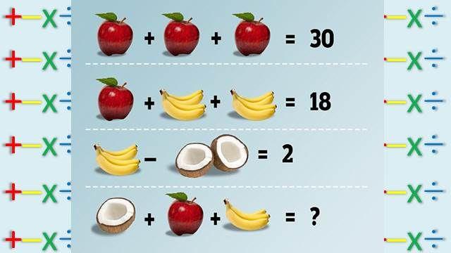你會加法嗎?答案是14還是15啦!