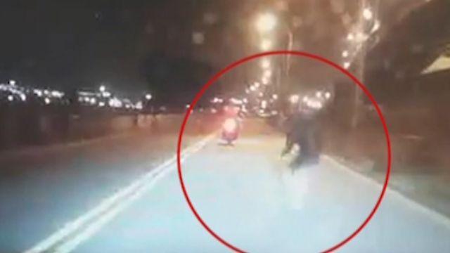 男闖馬路遭BMW撞亡 行車紀錄器曝光