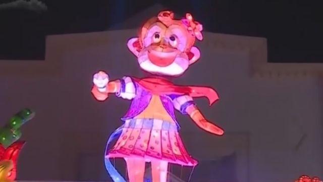 猴年主燈造型多變 彰化女猴王全台唯一
