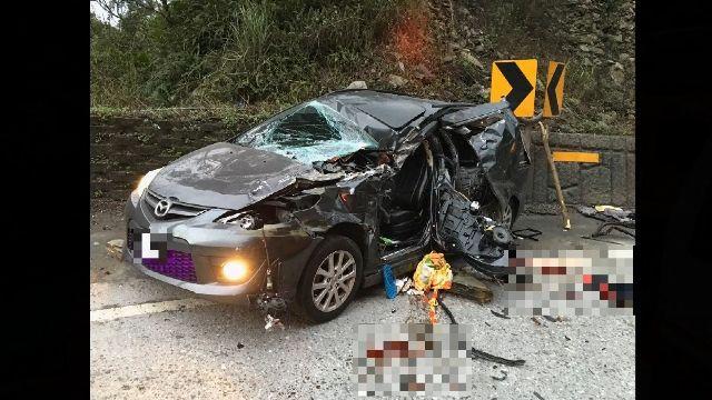 蘇花大貨車車尾撞轎車 釀1死3傷