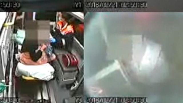 酒醉男子拍打救護車 對車內患者咆哮