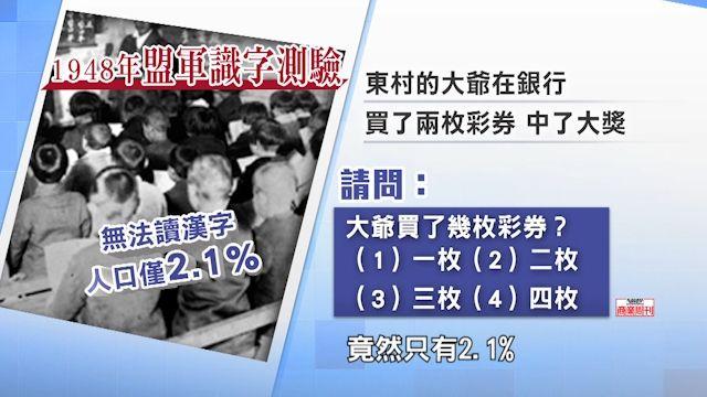 日本漢字夯  關鍵在70年前的一次考試