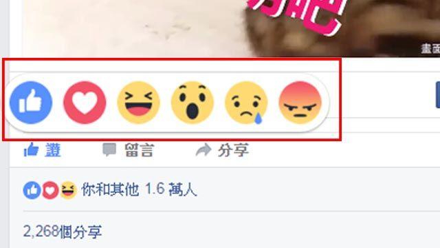 臉書6種情緒一次滿足 網友樂透