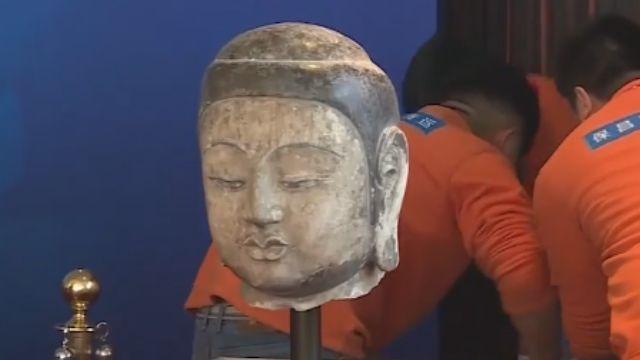 星雲北京捐佛首 1600年前釋迦摩尼像合璧