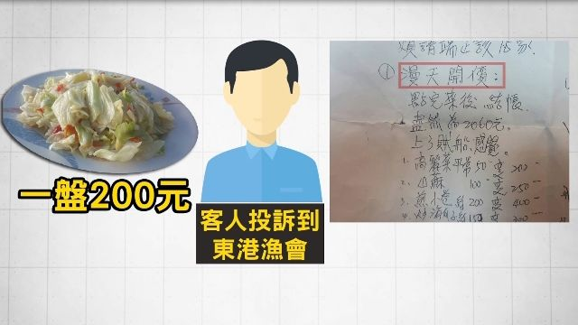 15人東港海鮮吃掉2060元 竟投訴「太貴了」