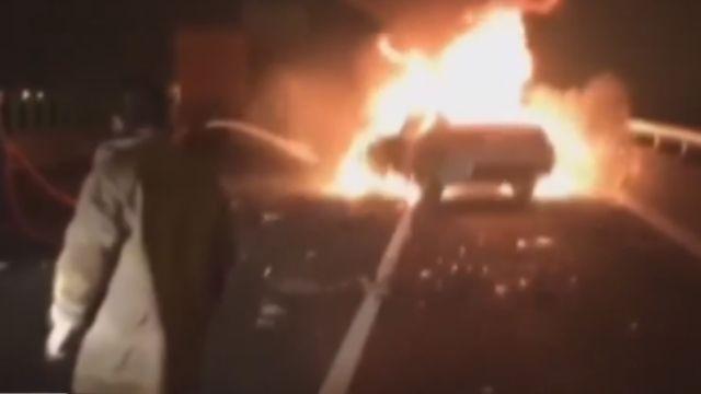 疑上錯匝道  國道六號雙B車對撞聯結車 2死1傷