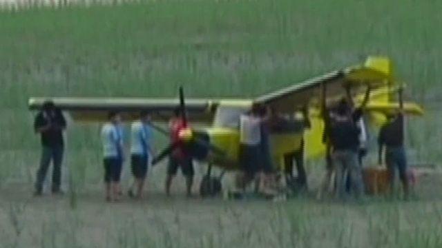 3千多尺空中縮缸! 輕航機驚險迫降沙洲