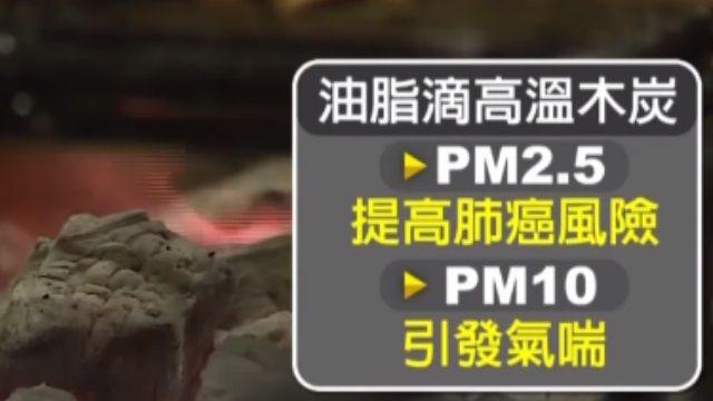 烤肉油脂滴木炭! 「PM2.5猛飆」增罹癌風險