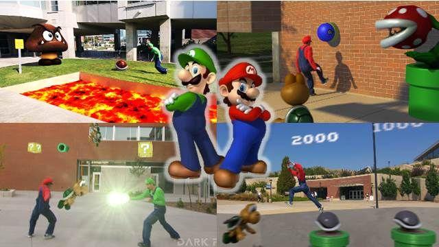 比VR虛擬實境還讚!極限瑪利歐跑酷