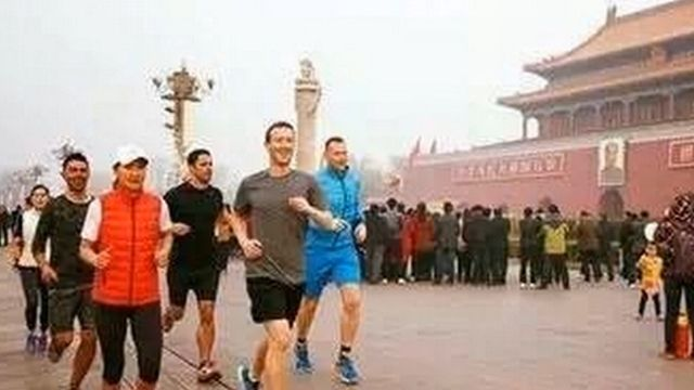 祖克柏霧霾中跑步PO照 網友:想中國市場想瘋了