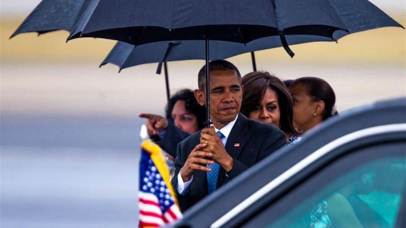 睽違88年破冰之旅! 歐巴馬今晨抵達古巴訪問