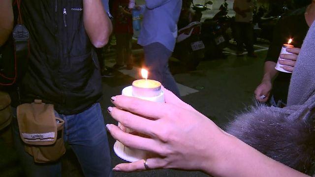 百輛超跑聚集  點亮蠟燭同為小燈泡祈福