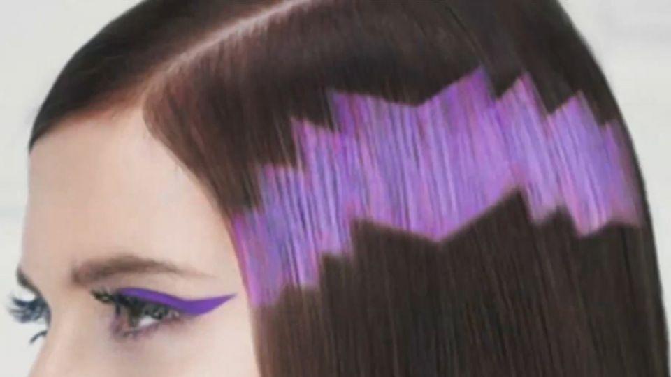 頭髮當畫布! 馬賽克染上頭髮