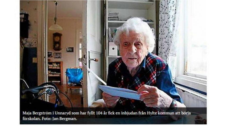 烏龍!104歲阿嬤 喜獲托兒所「入學通知」
