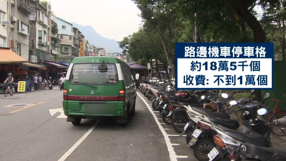 台北市機車格擬全面收費?交通局否認