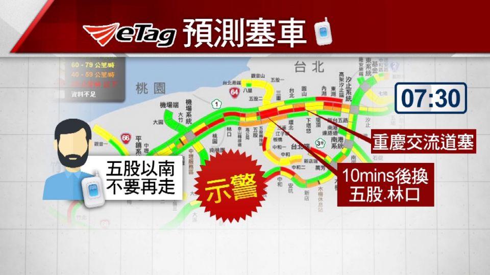 eTag大數據分析! 國道塞車狀況將可預知