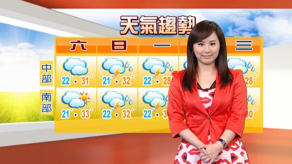 【2016/04/09】鋒面接近 北部、宜蘭、花蓮 零星短暫雨