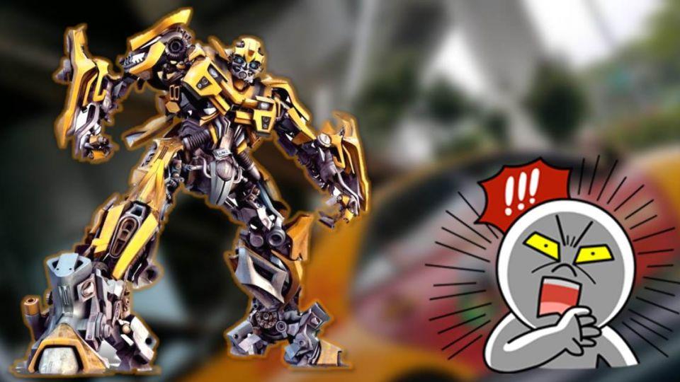 變形金剛大黃蜂現身台灣!小黃秒變「雲梯車」