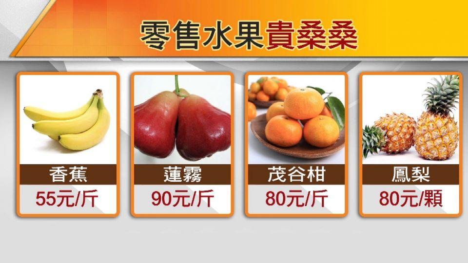 香蕉零售價持續飆高 買一串「破百元」