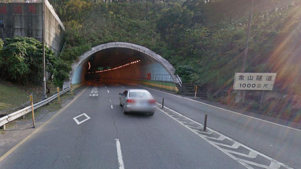 北市象山隧道內追撞車禍 交通嚴重堵塞