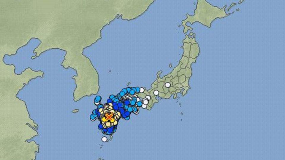 【影片】30秒驚魂!日本九州熊本縣發生規模6.4強震