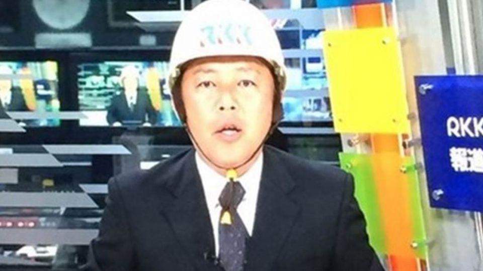 【影音】日熊本強震 主播戴安全帽堅守岡位報導