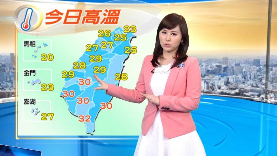 【2016/04/17】天氣轉不穩定 各地局部短暫陣雨