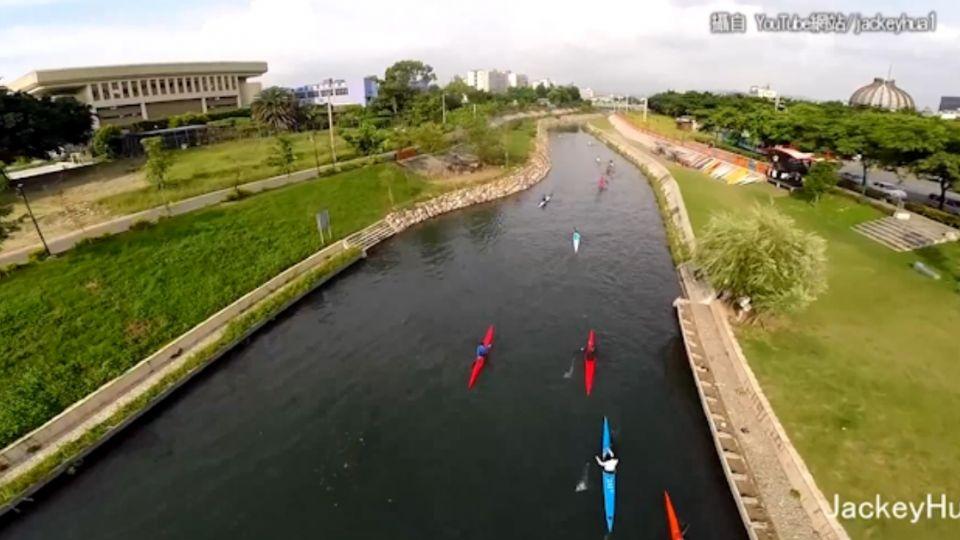 這裡是台中? 「台灣版康橋」 空拍輕艇曝光