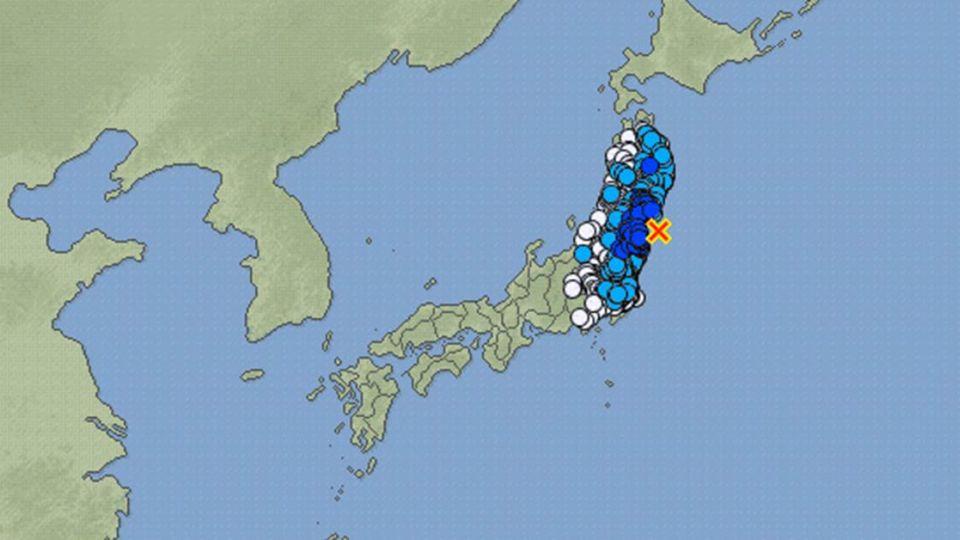 福島又震!地震規模5.8 未發海嘯警報