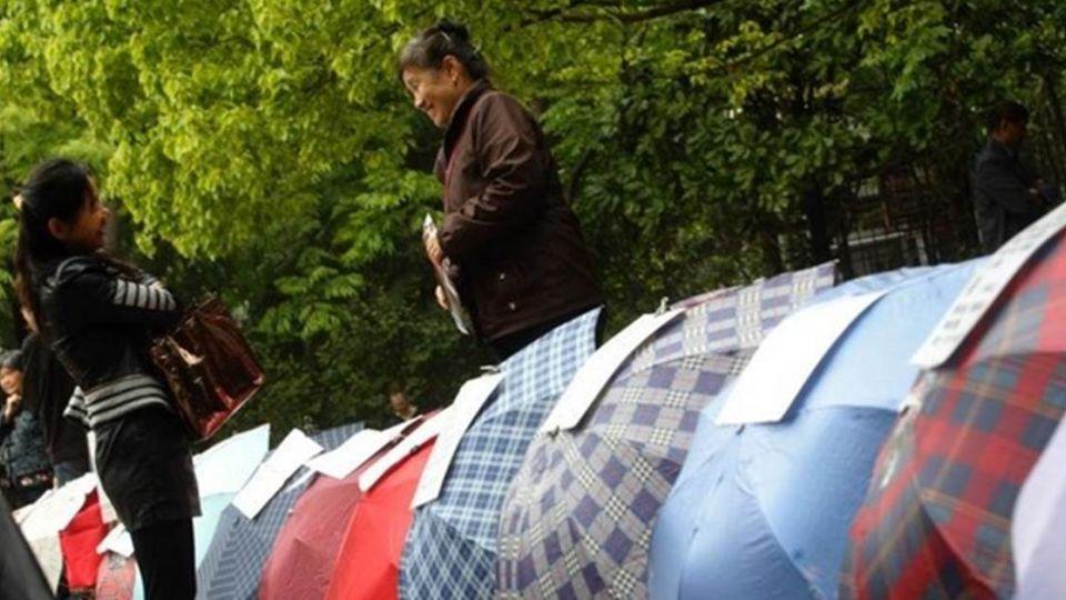 大陸尋奇!公園搭「傘帳篷」裡面賣的竟是…