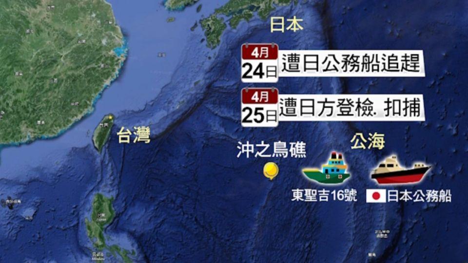 東聖吉16號漁船遭日扣押 繳170萬才放人