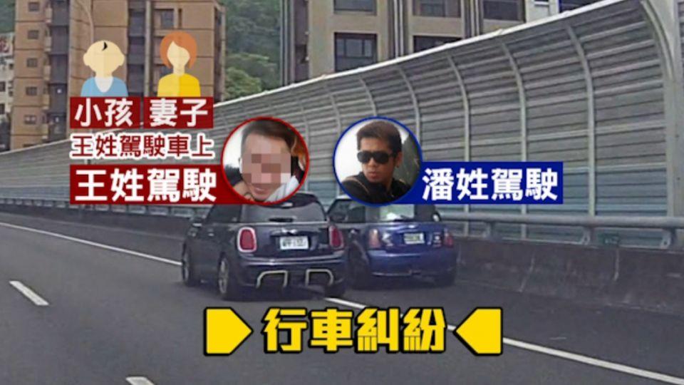 國道逼車糾紛 百萬名車擦撞翻車 4人傷