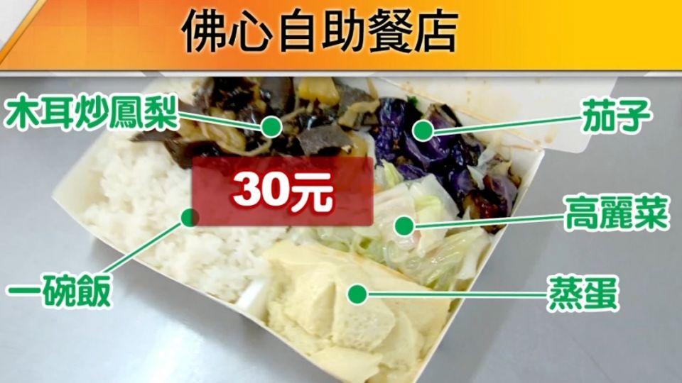 四菜加白飯只要30元 「佛心自助餐」揭祕
