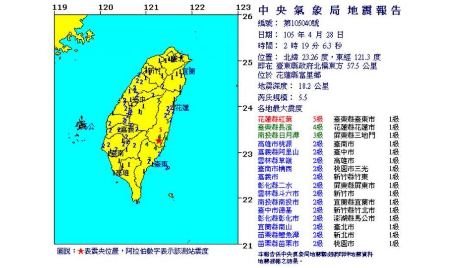 地牛深夜睡不著!東台灣8小時內 連25震