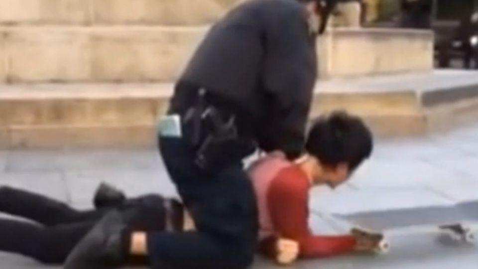 玩滑板遭警鎖喉、辣椒噴霧噴眼 怒告非法逮捕