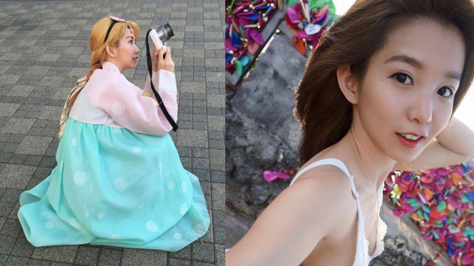 正翻!郭書瑤金髮穿韓服 竟成真人版Elsa
