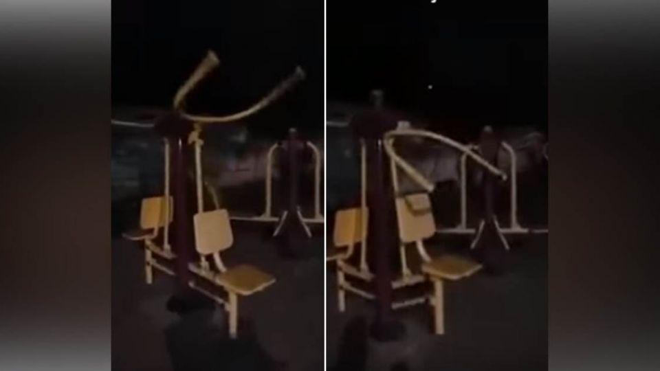 【影片】墓地旁器材竟自己「健身」 看完讓人頭皮直發麻…