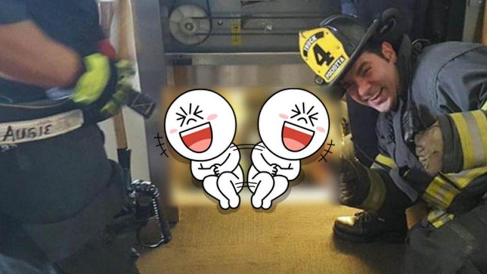 救命啊119!消防隊出勤竟笑翻 受困電梯竟是…