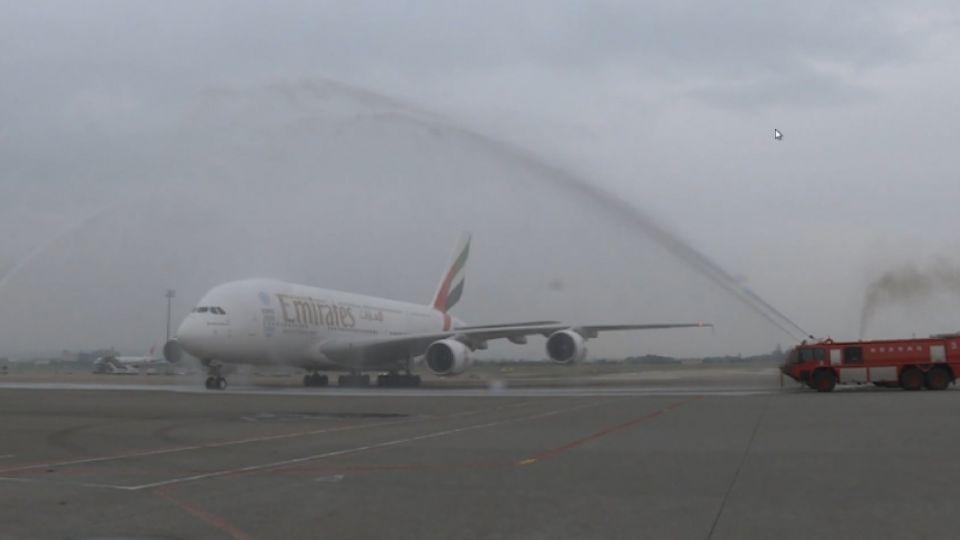 A380空中巨無霸 杜拜-台北定期航班開航