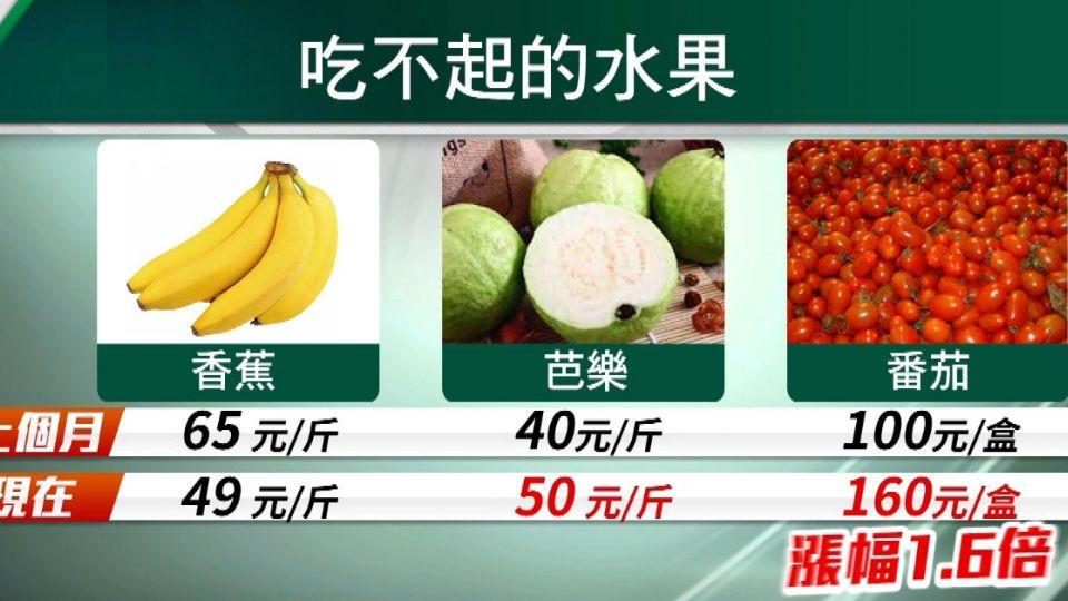 菜價好貴! 四月份CPI指數年增1.88%