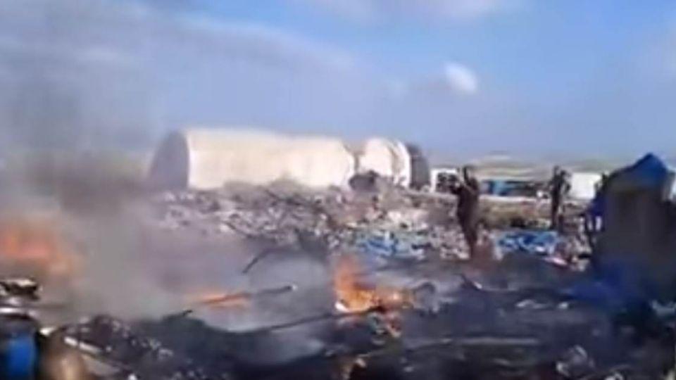 【影片】敘利亞「難民營」遭空襲 至少28死50傷